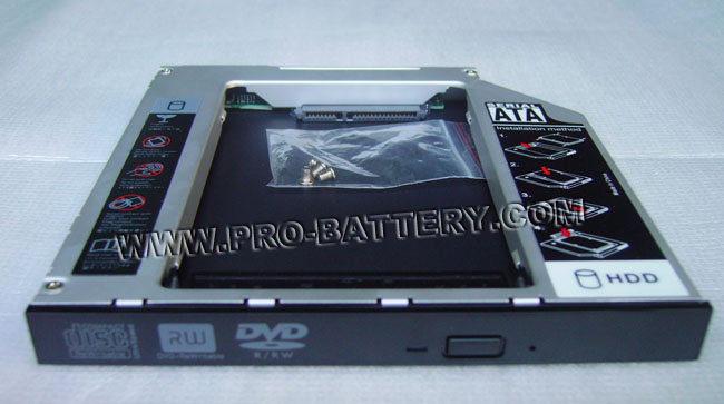 2nd Hard Drive HDD SSD Caddy Bay For Sony Vaio VPCEB1S1C VPCEB1S2C