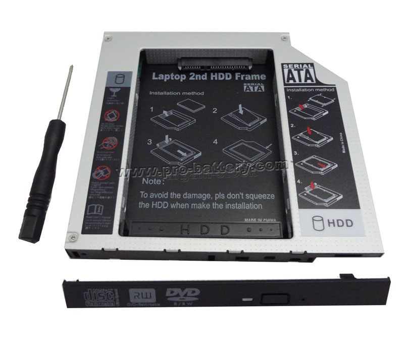2nd SATA Hard Drive HDD/SSD Caddy for Samsung RF511