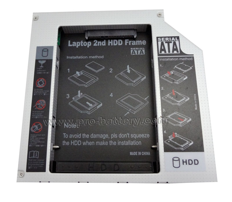2nd Hard Drive HDD SSD Caddy Adapter For Sony VAIO VPC-Z116GX/S