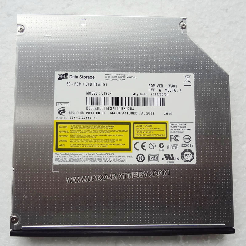 HLDS CT30N 12.7mm Tray Load BD-ROM Combo Player Drive DVD/RW Burner