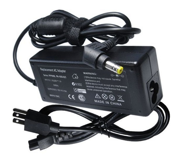 60W Laptop AC Adapter for Fujitsu Lifebook E6644 Power Supply Charger