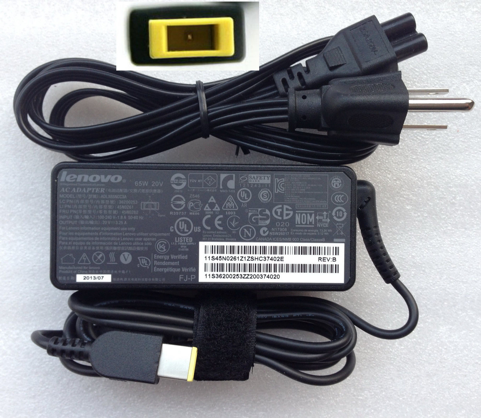 Original 65W Lenovo IdeaPad Yoga 13 ADP-65XBA AC Power Adapter Charger