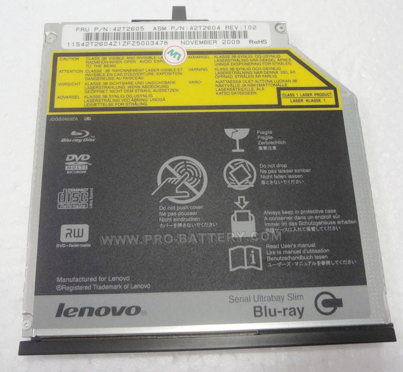 Original Lenovo Thinkpad T420s T430s Blu-ray Burner BD-RE Rewriter Drive