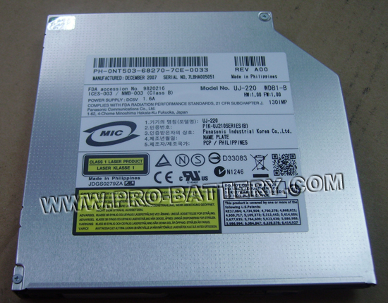 New Panasonic UJ-220 Blu-ray BD-RE Burner DVD R/RW Optical Drive