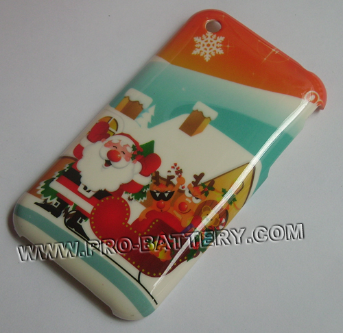 Christmas Xmas Santa Claus Plastic Faceplate Hard Case For Apple iPhone 3GS