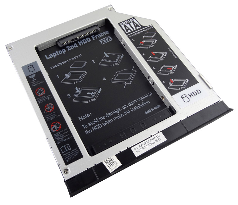 2nd HDD SSD Caddy For Dell Latitude E6330 E6320 With Ejector Bezel