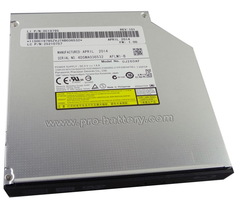 Panasonic UJ-260 Blu-ray Burner Drive for Lenovo IdeaPad B570 B580 B590